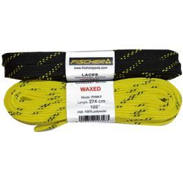 Fischer Voskované hokejové tkaničky  270 cm, žlutá
