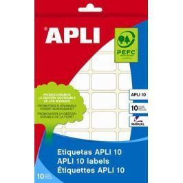 APLI Etikety, bílá, 20x50 mm, na ruční popis, 150 ks/bal.,
