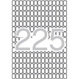 APLI Etikety, zaoblené rohy,  8x12 mm, 3375 ks/bal., A5,