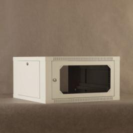 NetRack Nástěnný rack19''  6U/600 mm,skleněné dveře,šedý,odnímatelné boční panely