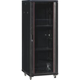 NetRack standing server cabinet Economy 22U/600x800mm (glass door) - black