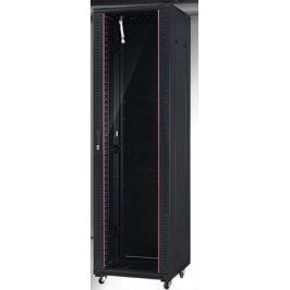NetRack standing server cabinet 42U/800x1000mm (glass door)-black FULLY ASSEMBLE