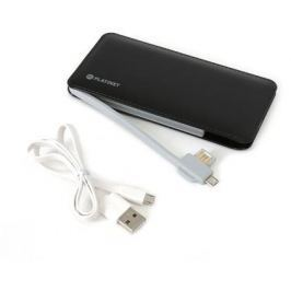 Omega Power Bank 6000mAh LEATHER, Li-pol 2xUSB (2A), černá