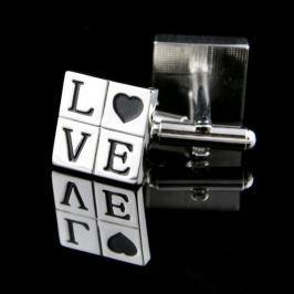 """Manžetové knoflíčky """"LOVE"""""""