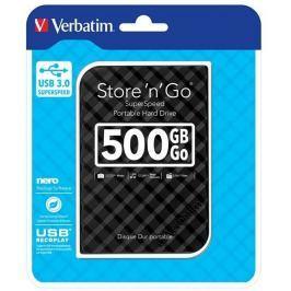 Verbatim - HDD 500GB Superspeed Black, USB 3.0, hdd externí HDD externí