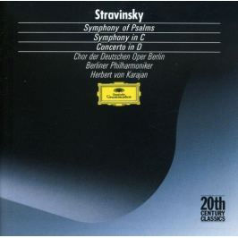 CD Stravinsky . Symphony of Psalms / Symphony in C / Concerto in D  (Karajan)