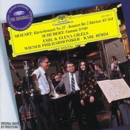 CD MOZART/SCHUBERT-GILELS : KLAV.KON.27,KON.