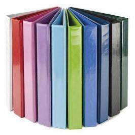 PANTA PLAST Pořadač čtyřkroužkový, růžový, přední průhledná kapsa, 40 mm, A4, PP/karton, PAN