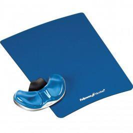 Fellowes Podložka pod myš a zápěstí  Palm Health-V CRYSTAL gelová modrá