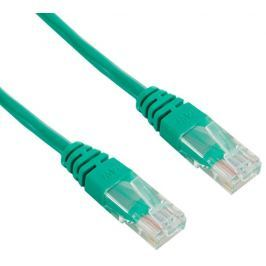 4World Síťový kabel RJ45  s krytkou, Cat. 5e UTP, 1m, Zelený