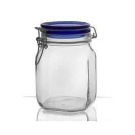BANQUET BORMIOLI Dóza skleněná FIDO Blue 1 l