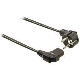 VALUELINE napájecí kabel Schuko samec-IEC-320-C13 úhlový, 2 m, černý