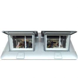 LEGRAND Krabice POPUP 2x3M matný hliník