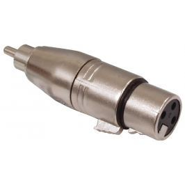 Valueline XLR-3FRCAM - adaptér XLR CINCH zástrčka - XLR 3kolíkový zásuvka Stříbr