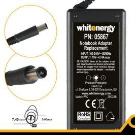 WHITENERGY napájecí zdroj 19V/4.74A 90W konektor 7.4x5.0mm + pin HP Compaq