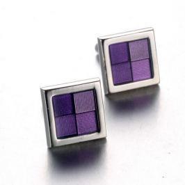 Manžetová knoflíčky fialové okénko
