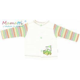 Mamatti Bavlněná košilka  - CAR- krémová/barevné proužky, 74 (6-9m)