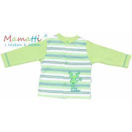 Mamatti Bavlněná košilka  - FROG- zelená/zelené proužky, 74 (6-9m)