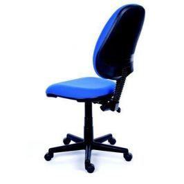 MAYAH Kancelářská židle, textilní, černá základna,  Happy, modrá