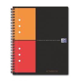 OXFORD Sešit International Activebook, kroužková vazba, A5+, čtverečkovaný, 80 listů,