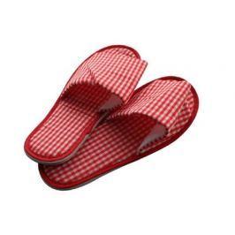 VETRO-PLUS Pantofle domácí káro dámské (26-28 cm) a pánské (29-32 cm), červené, hnědé, čern
