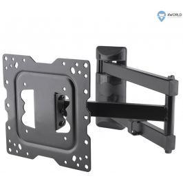 4WORLD Otočný a sklopný držák pro LCD 15''-43''  nosnost max.40kg BLK