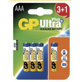 GP AAA Ultra Plus, alkalická - 3+1 ks