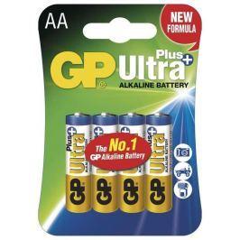 Baterie alkalická GP AA, LR6, Ultra plus, blistr 4ks