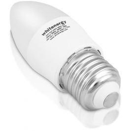 WHITENERGY LED žárovka | 7xSMD2835| C37 | E27 | 3W | 230V |teplá bílá| mléko