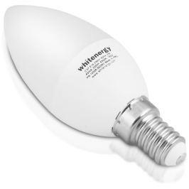 WHITENERGY LED žárovka | 6xSMD2835| C37 | E14 | 3W | 230V |teplá bílá| mléko