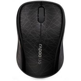 RAPOO 3100P Black/ 1000 dpi/ bezdrátová/ 5 GHz/ černá