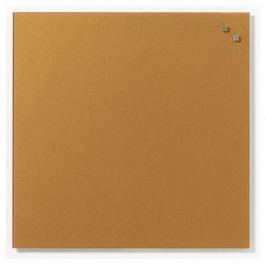 NAGA Magnetic glass board 45x45 cm gold