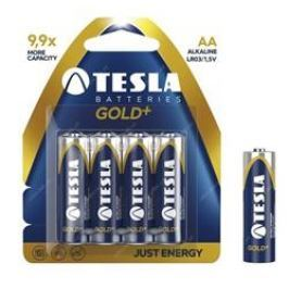 Tesla alkaline GOLD+ baterie AA LR6, 4pcs/pack