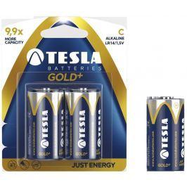 TESLA - baterie C GOLD+, 2ks, LR14