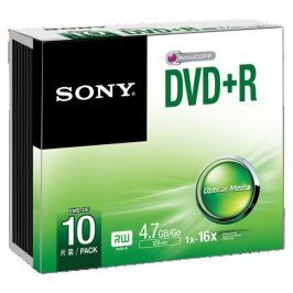 Sony Média DVD-R ; 4.7GB; 10ks SLIM (120 min.)