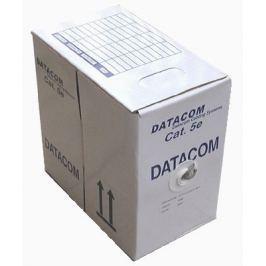 Datacom kabel drát C5E UTP PE venkovní 305m box černý