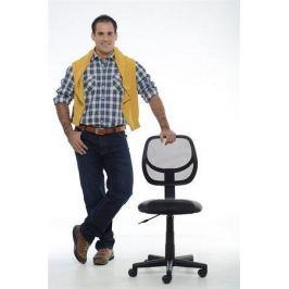 MAYAH Kancelářská židle, textilní, síťovinoný opěrák, černá základna,  Fresh, č