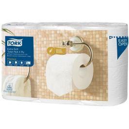 TORK Toaletní papír Premium, bílá, T4 systém, 4- vrstvý, 19,5 m, extra jemný,