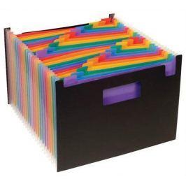 VIQUEL Aktovka s přihrádkami Rainbow Class, 25 částí, černá, PP,