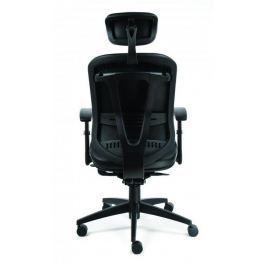 MAYAH Executive židle Supreme, černá, koženka, černý kříž,