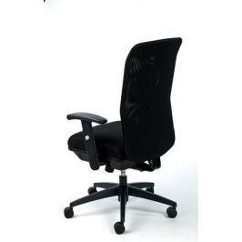 MAYAH Manažerská židle Jumpy, textilní, černá, černá základna,