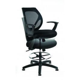 MAYAH Kancelářská židle zvýšená High, černá, bez koleček, černý kříž,