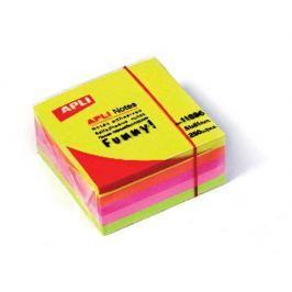 APLI Samolepící bloček, 51x51 mm, 250 lístků, , mix zářivých barev