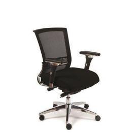 MAYAH Manažerská židle Power, černá, hliníkový kříž,