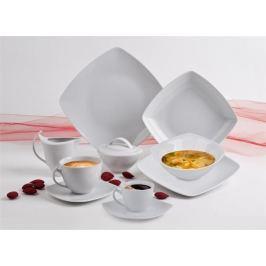 ROTBERG Dezertní talíř Quadrato, bílá, porcelán, čtvercový, 20 cm,