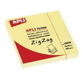 APLI Samolepící bloček Z, 75x75 mm, 100 lístků, , žlutý