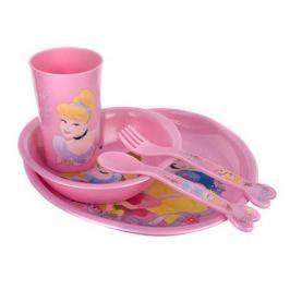 BANQUET Dětská jídelní plastová sada PRINCESS, 5 ks, OK