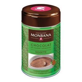 MONBANA Horká čokoláda v prášku Lískový oříšek, 250 g,