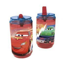 BANQUET Láhev plastová s brčkem CARS 410 ml