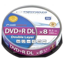 Esperanza DVD+R Double Layer [ cake box 10 | 8,5 GB | 8x ]